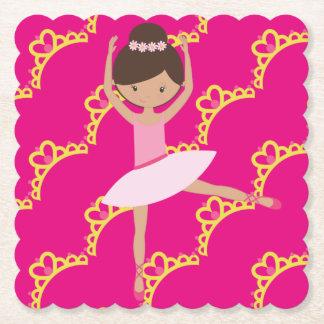 Dessous-de-verre En Papier Princesse personnalisée de ballerine