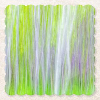 Dessous-de-verre En Papier Résumé de la traînée de rivière des arbres |