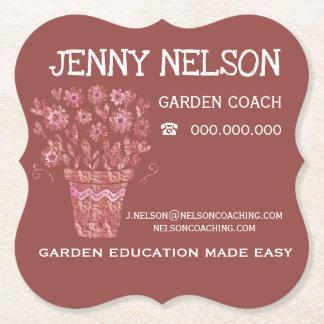 Dessous-de-verre En Papier RoseGold et affaires de entraînement de jardin de