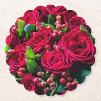 Dessous-de-verre En Papier Roses rouges