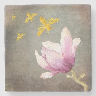 Dessous-de-verre En Pierre Abeilles de fleur et d'or d'aquarelle