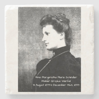 Dessous-de-verre En Pierre Alma Margaretha Maria Schindler Mahler Gropius Wer