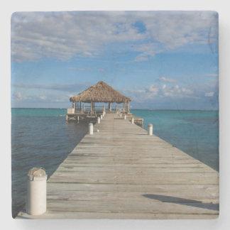 Dessous-de-verre En Pierre Ambre gris Caye Belize