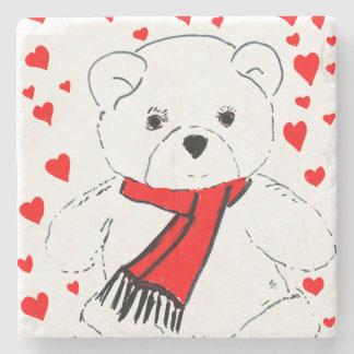 Dessous-de-verre En Pierre amour d'ours de nounours