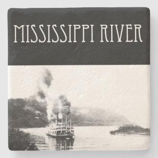 Dessous-de-verre En Pierre Bateau à vapeur du fleuve Mississippi