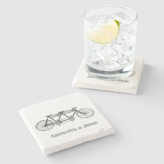 Dessous-de-verre En Pierre Bicyclette vintage construite pour deux/vélo