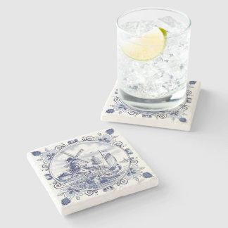 Dessous-de-verre En Pierre Bleu néerlandais vintage mignon de Delft de