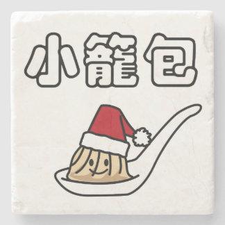 Dessous-de-verre En Pierre Boulette chinoise Dim Sum Père Noël ha de soupe à