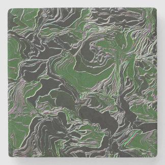 Dessous-de-verre En Pierre Camouflage vert génial d'armée