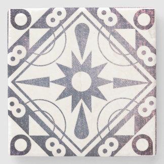 Dessous-de-verre En Pierre Charbon de bois et sable géométriques