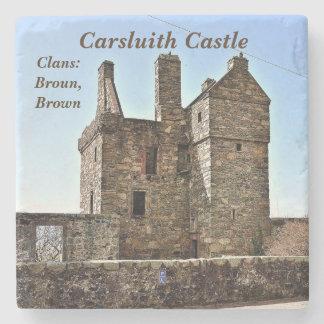 Dessous-de-verre En Pierre Château de Carsluith -- Clan Broun/Brown