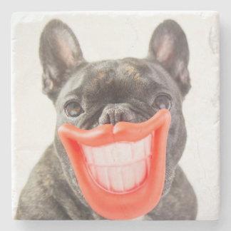 Dessous-de-verre En Pierre Chien de sourire des images | A de Getty