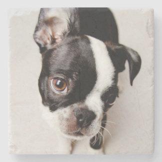 Dessous-de-verre En Pierre Chiot d'Edison Boston Terrier