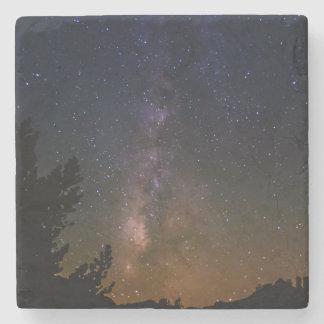Dessous-de-verre En Pierre Ciel nocturne de manière laiteuse, la Californie
