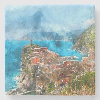 Dessous-de-verre En Pierre Cinque Terre Italie en Riviera italienne