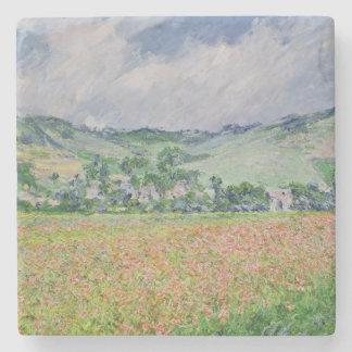 Dessous-de-verre En Pierre Claude Monet | le champ de pavot près de Giverny,