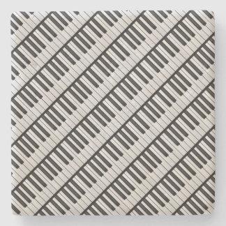 Dessous-de-verre En Pierre Clés noires et blanches de piano