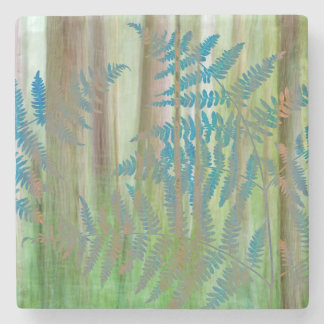 Dessous-de-verre En Pierre Collage des fougères et de la forêt | Seabeck, WA