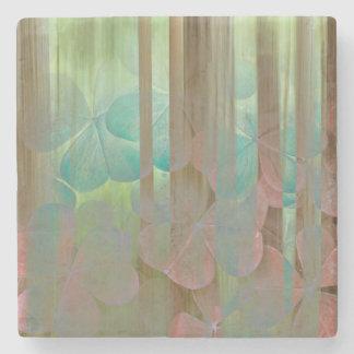 Dessous-de-verre En Pierre Collage d'Oxalis et d'arbres | Seabeck, WA