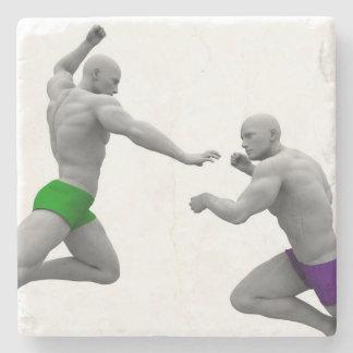 Dessous-de-verre En Pierre Concept d'arts martiaux pour le combat et la