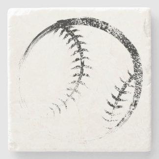 Dessous-de-verre En Pierre Conception grunge de base-ball ou de base-ball de