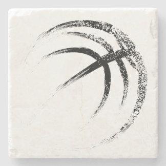 Dessous-de-verre En Pierre Conception grunge de basket-ball de style