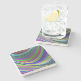 Dessous-de-verre En Pierre Courbes de couleur