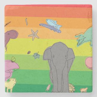 Dessous-de-verre En Pierre Créatures colorées