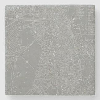 Dessous-de-verre En Pierre Croquis de carte de ville de Boston