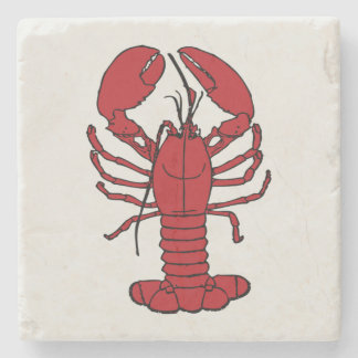 Dessous-de-verre En Pierre Dessous de verre blancs rouges de homard mignon