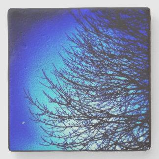 Dessous-de-verre En Pierre dessous de verre bleus d'arbre