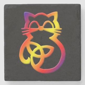 Dessous-de-verre En Pierre Dessous de verre celtiques de chat de noeud de