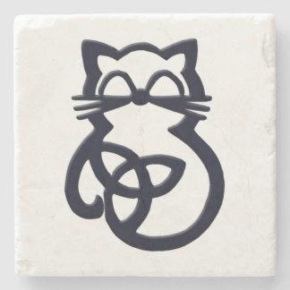 Dessous-de-verre En Pierre Dessous de verre celtiques de chat de noeud noir