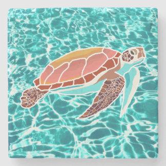 Dessous-de-verre En Pierre Dessous de verre de boissons de tortue de mer