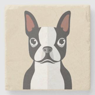 Dessous-de-verre En Pierre Dessous de verre de Boston Terrier