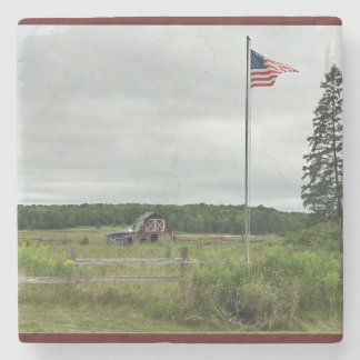 Dessous-de-verre En Pierre Dessous de verre de paysage du Michigan de drapeau