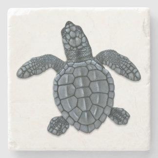 Dessous-de-verre En Pierre Dessous de verre de pierre de Hatchling de tortue