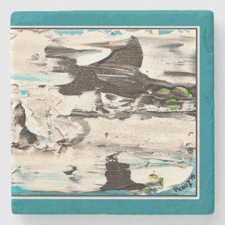 Dessous-de-verre En Pierre Dessous de verre de précipitation, bleus et blancs