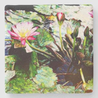 Dessous-de-verre En Pierre Dessous de verre en pierre carrés Romance roses