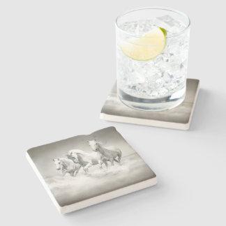 Dessous-de-verre En Pierre Dessous de verre en pierre sauvages de chevaux