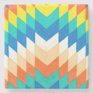 Dessous-de-verre En Pierre Dessous de verre géométriques colorés
