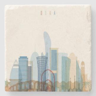 Dessous-de-verre En Pierre Doha, horizon de ville du Qatar |
