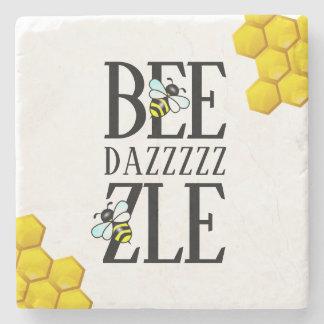 Dessous-de-verre En Pierre Drôle stupéfiez (d) par le nid d'abeilles