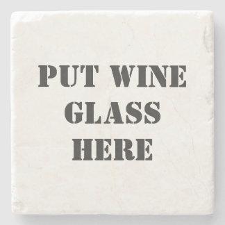 Dessous-de-verre En Pierre Échantillon de vin drôle