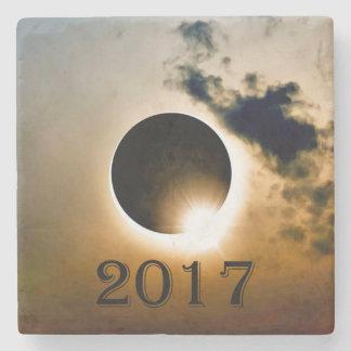 Dessous-de-verre En Pierre Éclipse solaire 2017, dessous de verre de marbre