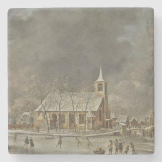 Dessous-de-verre En Pierre Église et Iceskaters