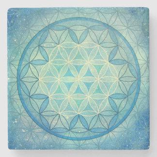 Dessous-de-verre En Pierre Fleur des dessous de verre de marbre de la vie