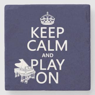 Dessous-de-verre En Pierre Gardez le calme et le jeu sur (piano) (toute