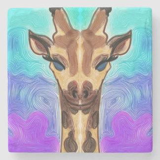 Dessous-de-verre En Pierre Girafe psychédélique