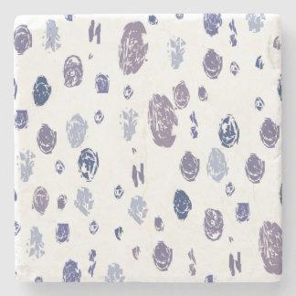 Dessous-de-verre En Pierre Gouttes de pluie abstraites de bleu et de pourpre
